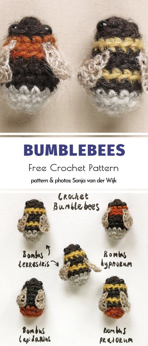 Bzzzz… Bee Amigurumi Ideas Free Crochet Patterns #crochetanimals