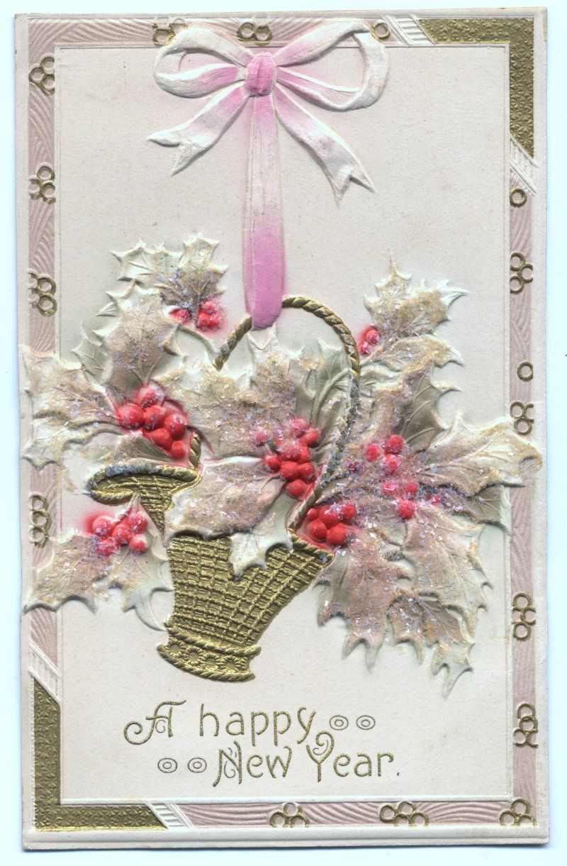 Pin by Darla Wallace on New Year's Vintage Cards (With