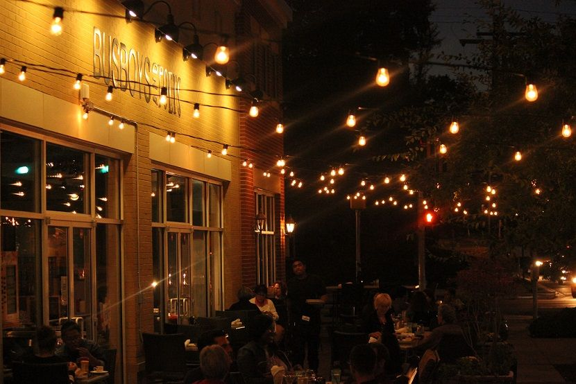 Busboys And Poets In Hyattsville Recently Added Some Globe String Lights  Above Its Outdoor Patio,