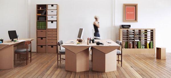 büro-aus-pappe--einrichtungsideen-basteln-mit-karton-kartone, Hause deko