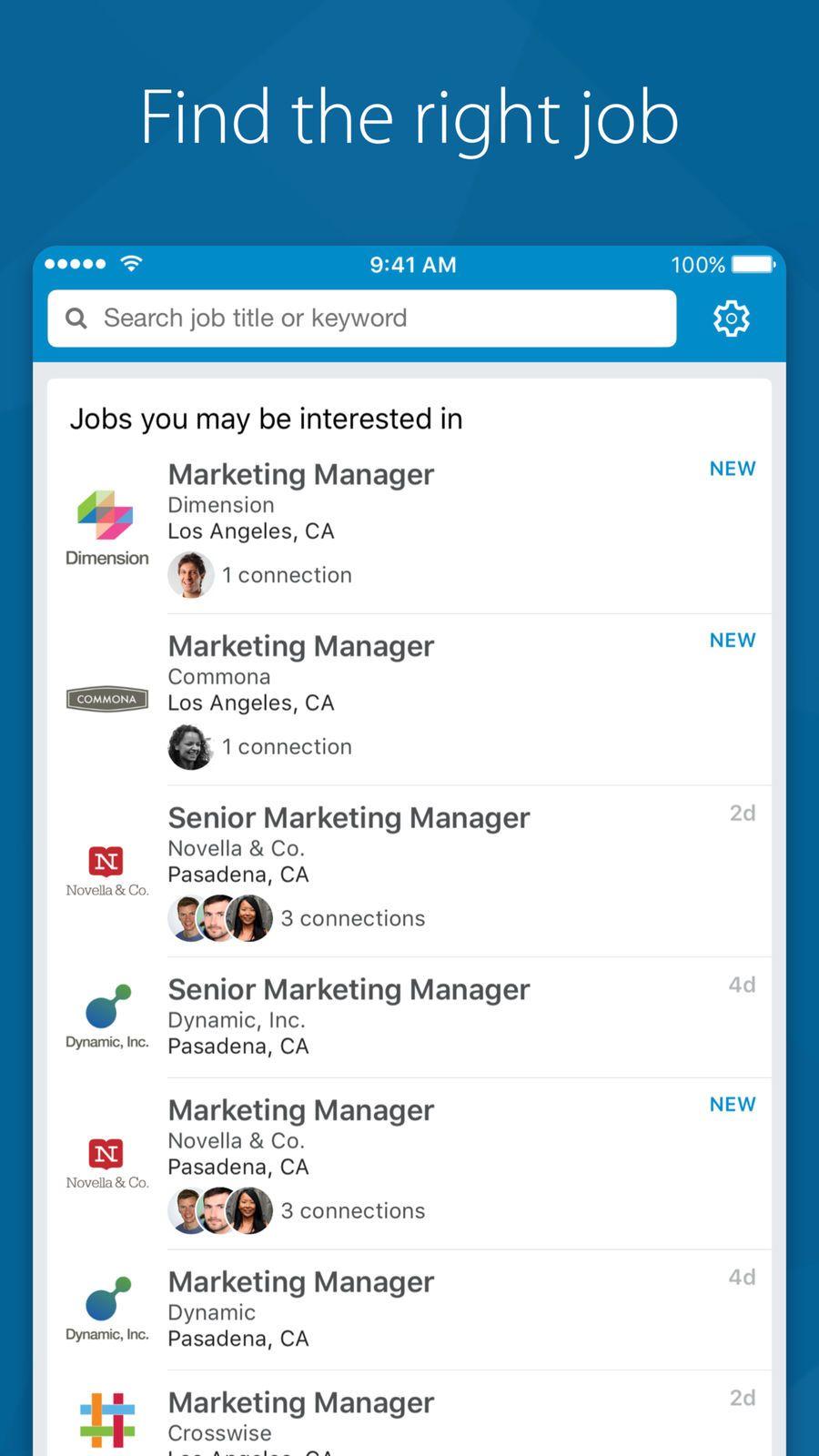 LinkedIn Job Search ProductivityBusinessappsios