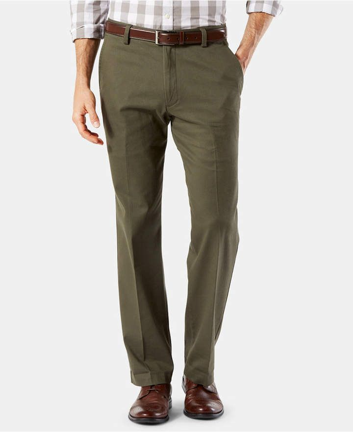 87acfde71bfb72 Dockers Men's Easy Straight Fit Khaki Stretch Pants - Blue 34x32 in ...