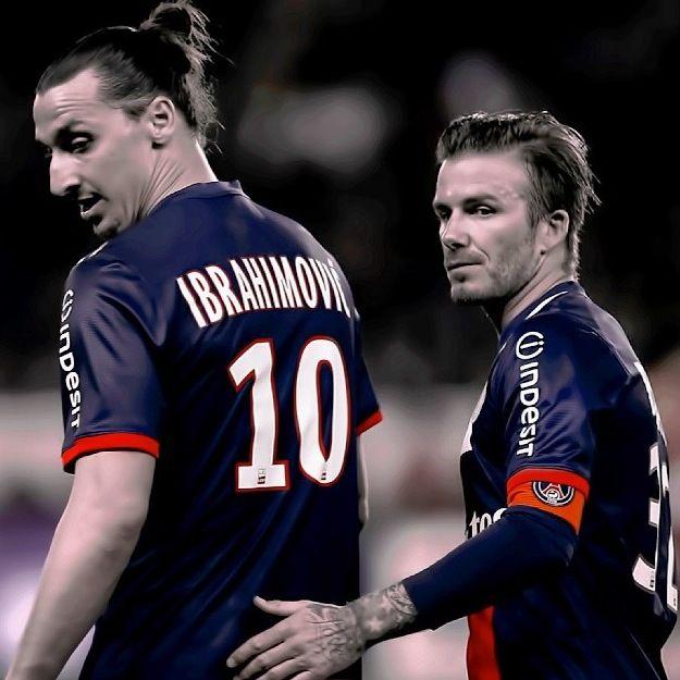 David Beckham And Zlatan Ibrahimovic Psg Futebol Nacional Futebol Soccer Zlatan Ibrahimovic
