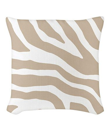 Look what I found on #zulily! Beige & White Zebra Burlap Pillow #zulilyfinds