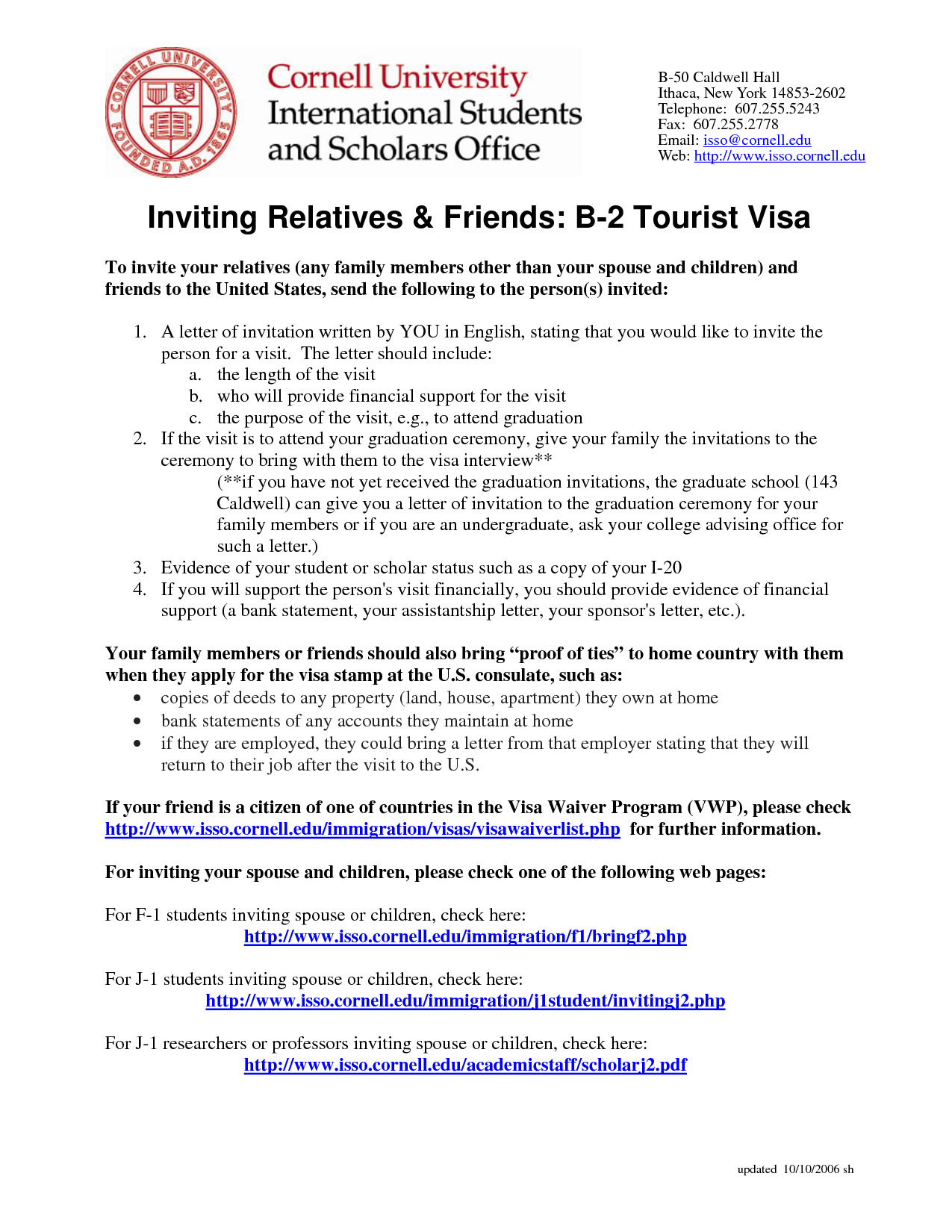 Invitation Letter Tourist Visa  Cover Latter Sample