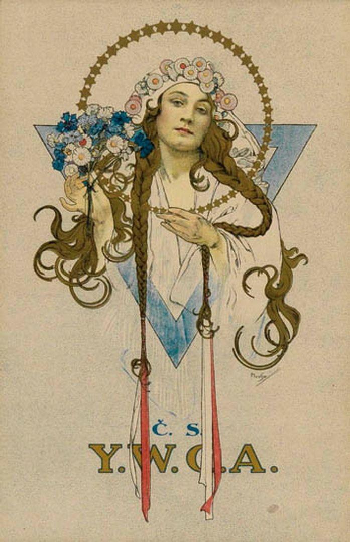 For the Young Women's Christian Association ~ Alphonse Mucha Art 382.jpg