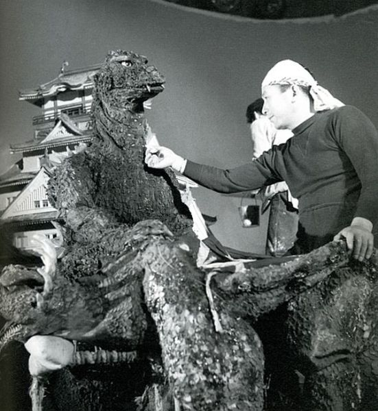 Behind the Scenes of the First Godzilla Movie Making of the 1954 Godzilla, the first film about the giant dinosaur monster destroying Japanese cities.