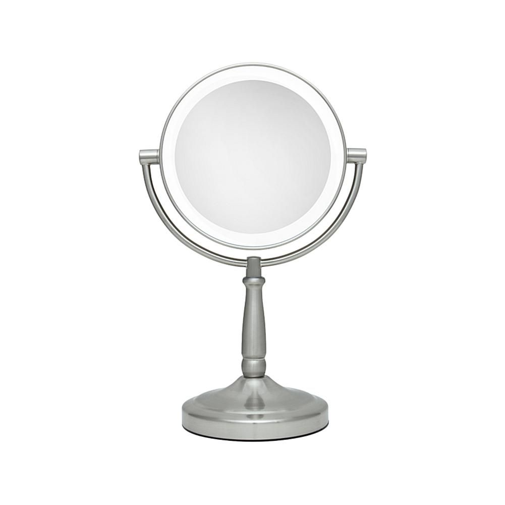 Zadro cordless dualsided led vanity mirror xx magnifications