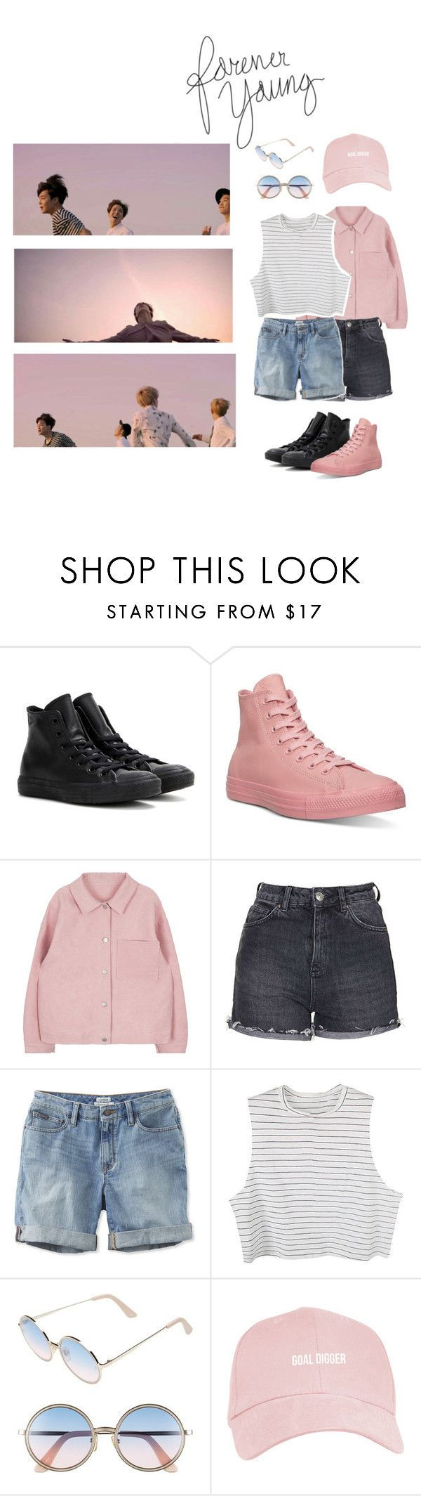 """BTS - Young Forever ♡"" by ellvenlovely ❤ liked on Polyvore featuring Converse, Topshop, L.L.Bean and Sunday Somewhere"