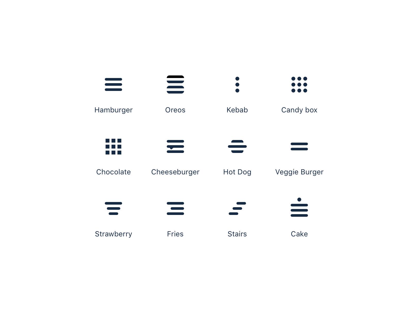 Menu Icons 🍔 | Hamburger menu icon, Kebab, Hamburger menu