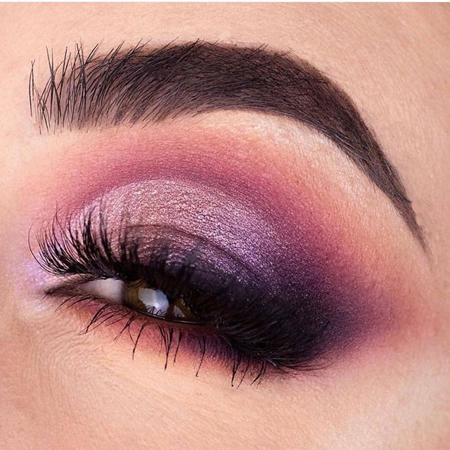 Berry hues eye makeup
