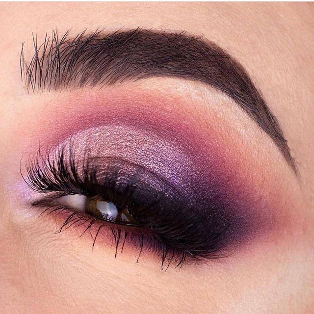 Berry hues eye makeup