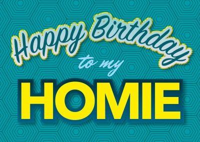 happy birthday to my homie postkarten vorlage | Happy Birthday ...