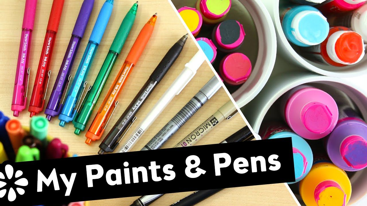 All about the paints and pens I like to use for my art and DIY projects! - Sea Lemon