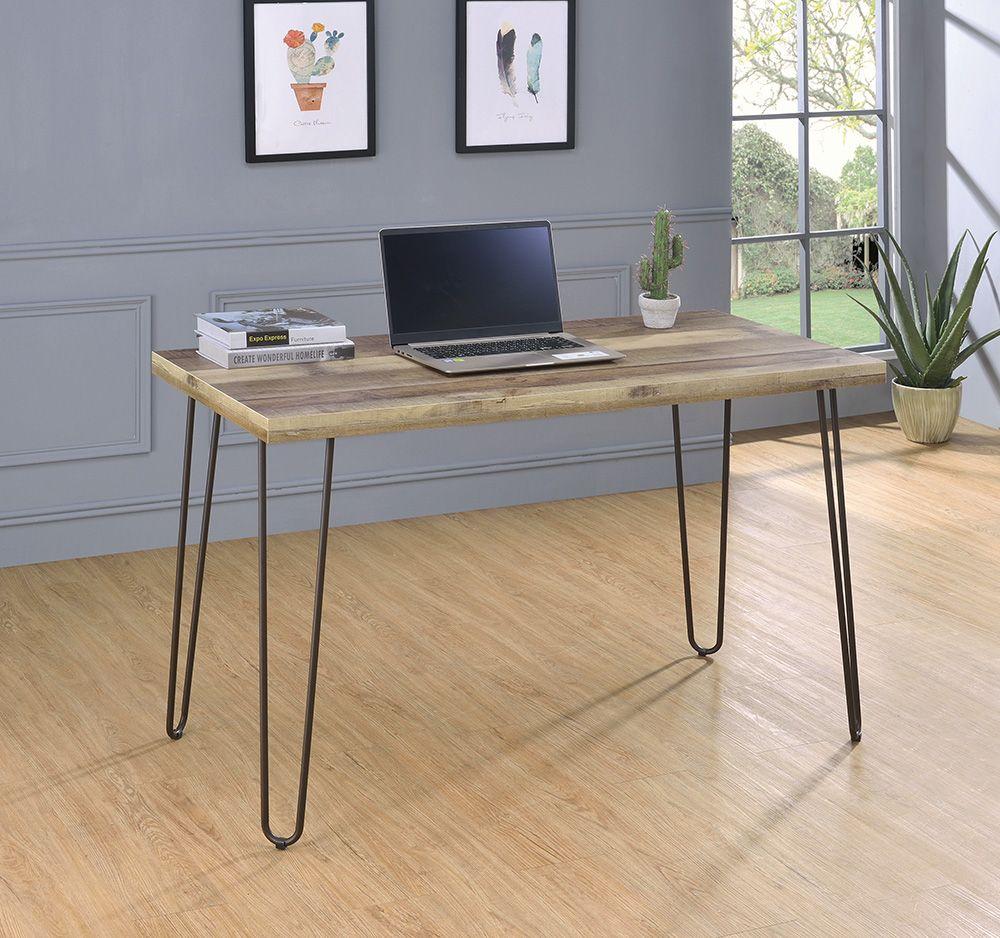 Cs208 Computer Desk 801927 Coaster Furniture Office Desks In 2020 Pine Desk Minimalist Office Desk Wood Office Furniture