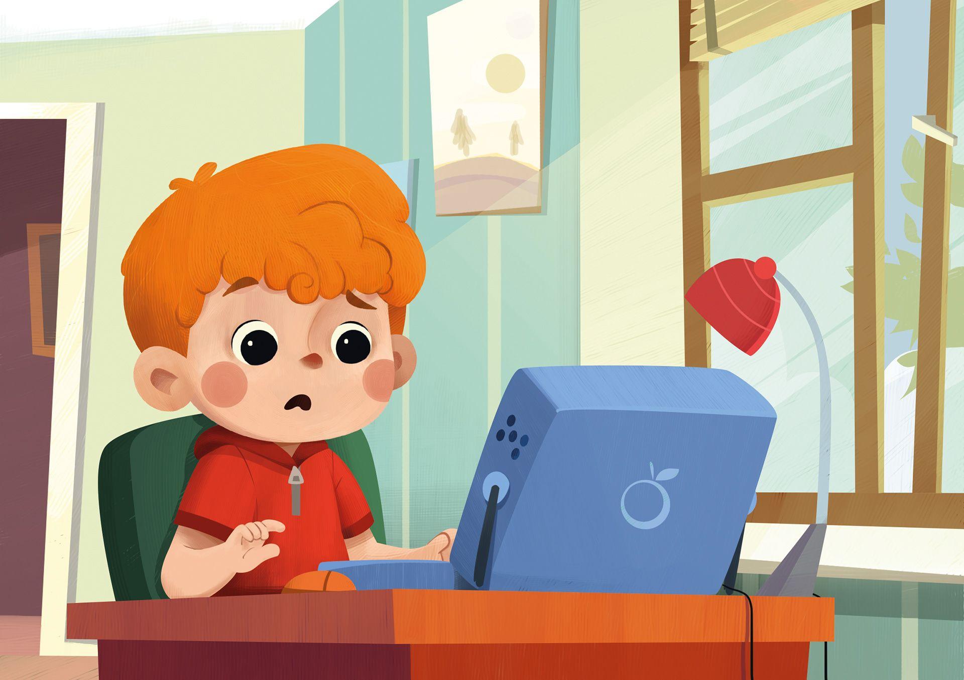 Children Book Illustration  U0026 39 Darg U0131n Bilgisayar U0026 39  On Behance