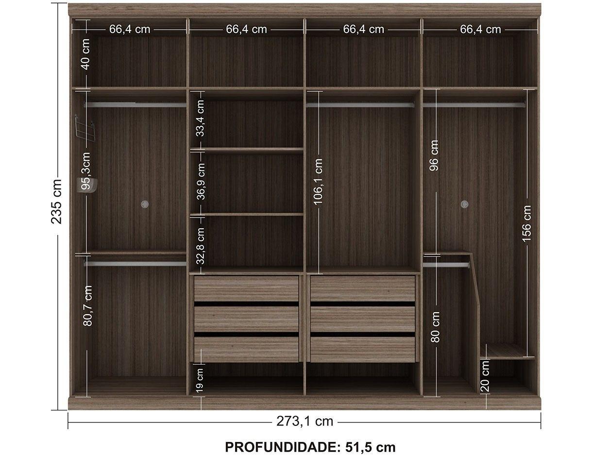 b33a4c6ab Guarda-roupa Casal 8 Portas 6 Gavetas com as melhores condições você  encontra no site do Magazine Luiza. Confira!