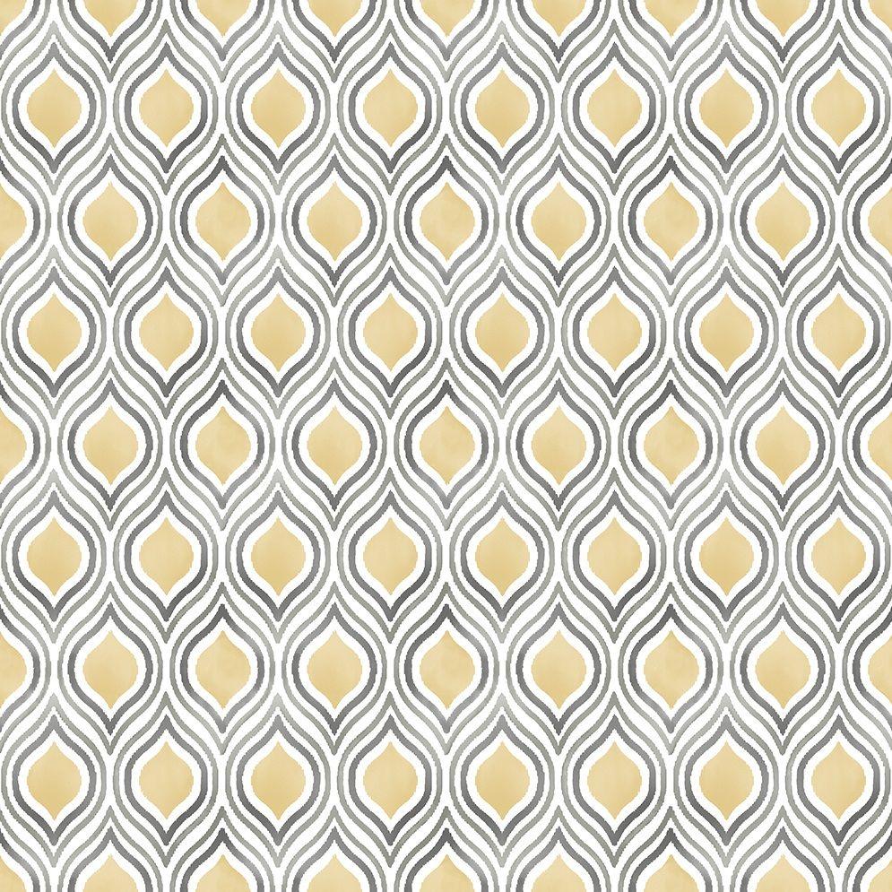 Mustard Yellow Retro Wallpaper