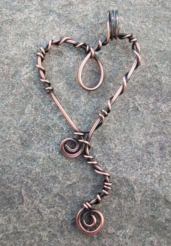 Wire Heart Pendant   jewelry making   Pinterest   Pendants, Wire ...