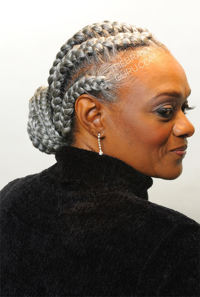 french braids - side view