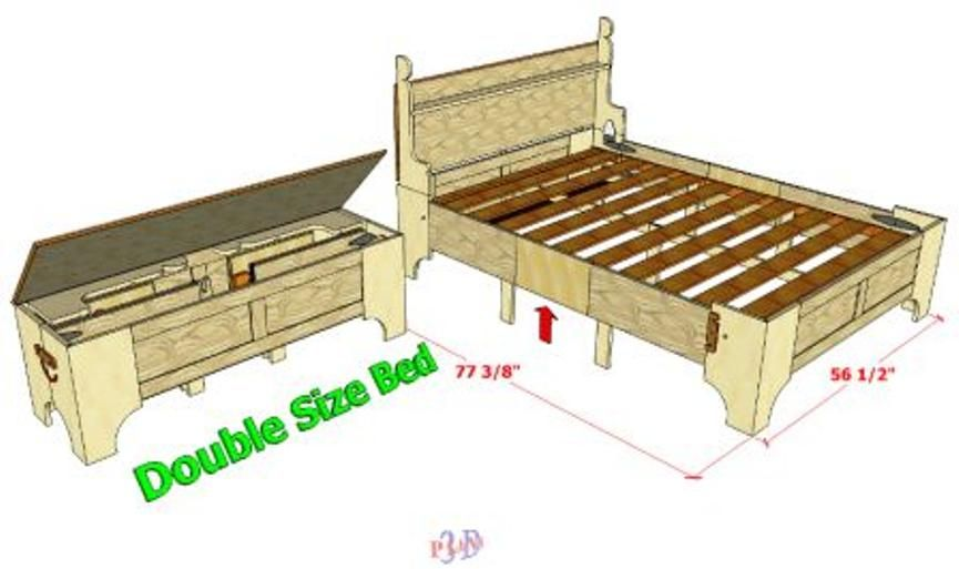 Smaller Sized For A Double Sized Bed But Adjustable Bed In A Box Plans Available At Link Box Bed Murphy Bed Ikea Murphy Bed Plans