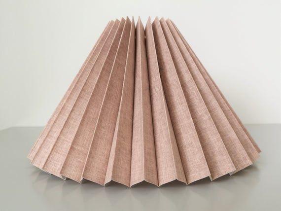 New Danish designed dusty pink linen, knife pleate
