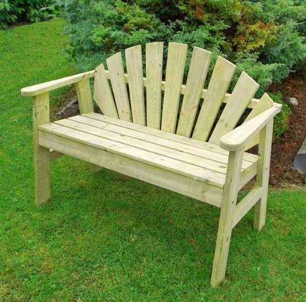 Brilliant Sunburst 2 Seat Garden Bench Woodworking In 2019 Bench Creativecarmelina Interior Chair Design Creativecarmelinacom
