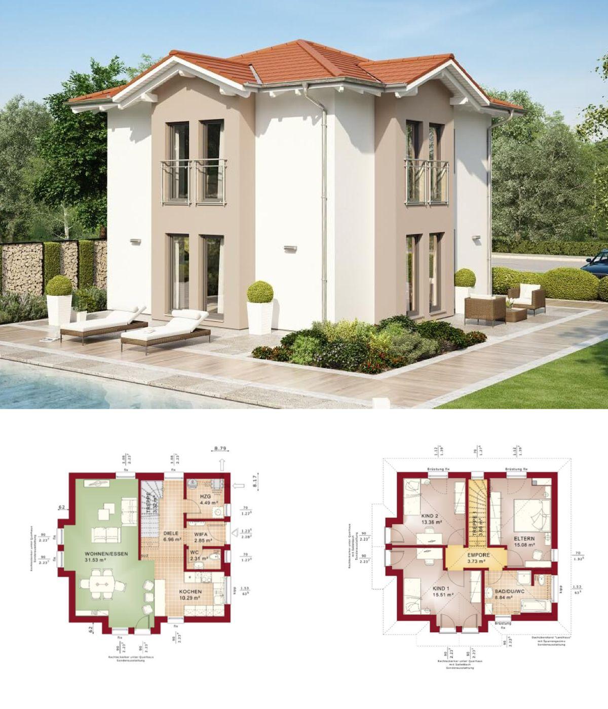 fertighaus evolution 116 v5 bien zenker modernes einfamilienhaus mit walmdach grundriss haus ideen - Fertighausplne