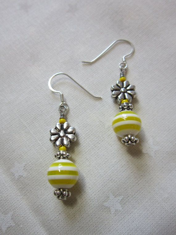 Handmade Earrings Beaded Dangling By Theluciecollection 10 00