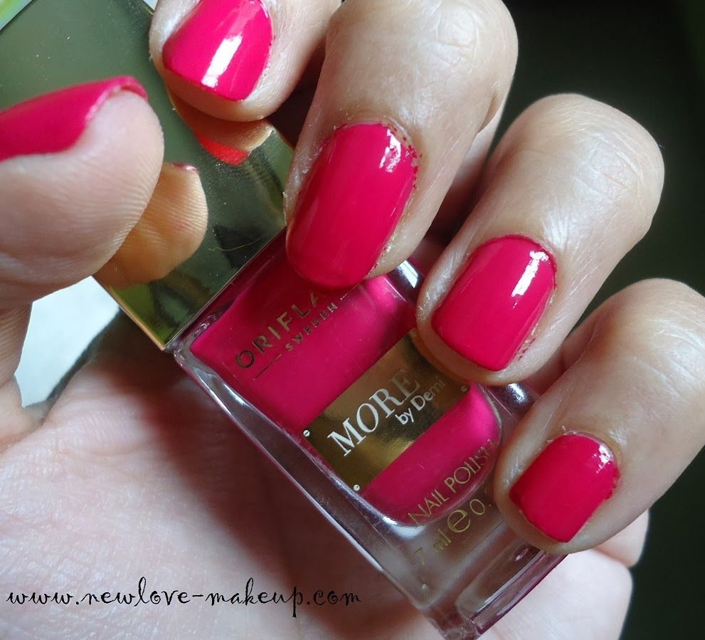 Oriflame More by Demi Nail Polish Review, NOTD New Love