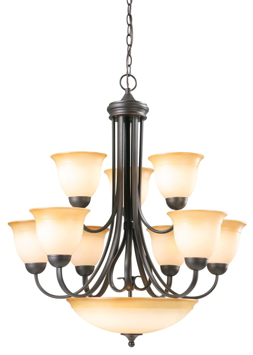 Design House 512632 Cameron Oil Rubbed Bronze 10 Light Chandelier