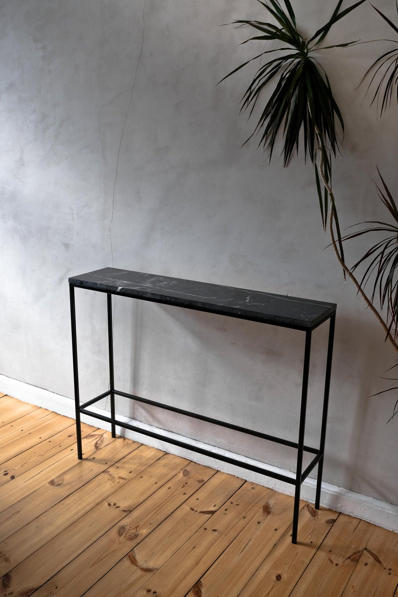Marble Console Table Narrow Console Table Marble Top Entry