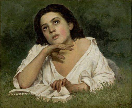 José Ferraz de Almeida Júnior(1850ー1899)「Girl with a book」