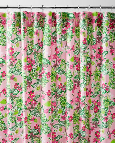Lilly Pulitzer Sister Fls Shower, Lilly Pulitzer Inspired Curtains