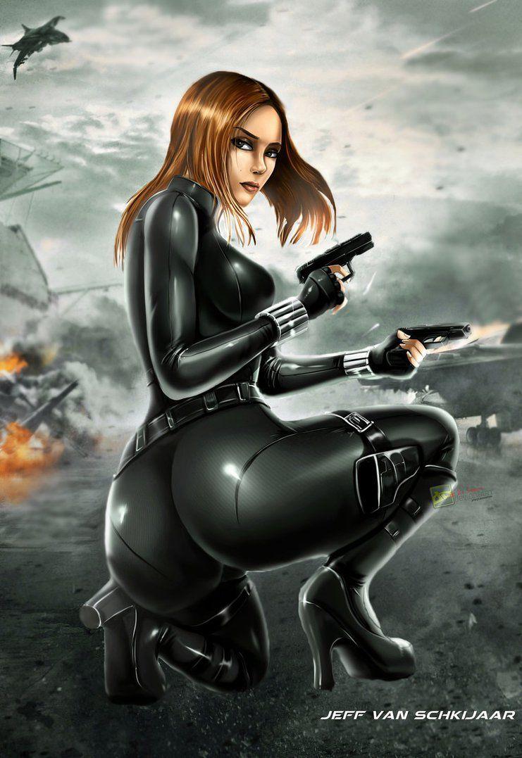 Black Widow Marvel Avengers Fanart Poster By Jeffery10  Black Widow Marvel, Black -2473
