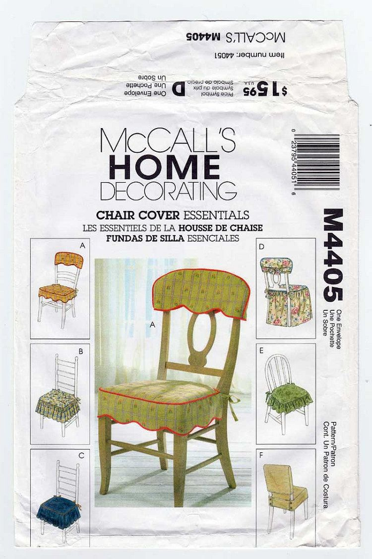 Chair Cover Patterns Home Decorating Sewing Pattern Chair Cover Essentials Seat Cover