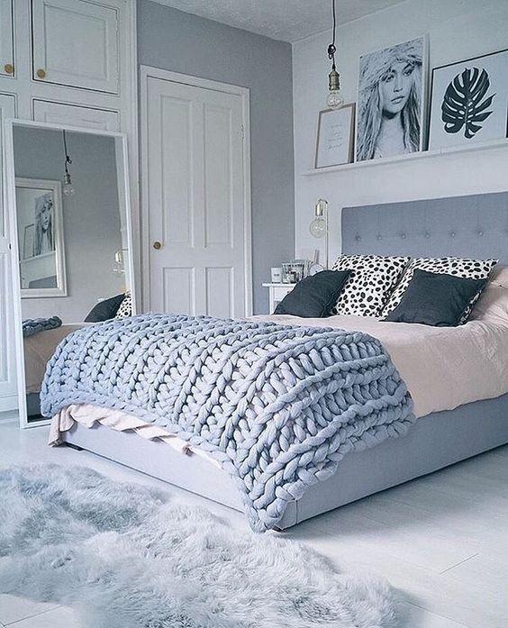Une #chambre d\u0027ado à l\u0027esprit #cocooning ! #ado #déco #gris #rose