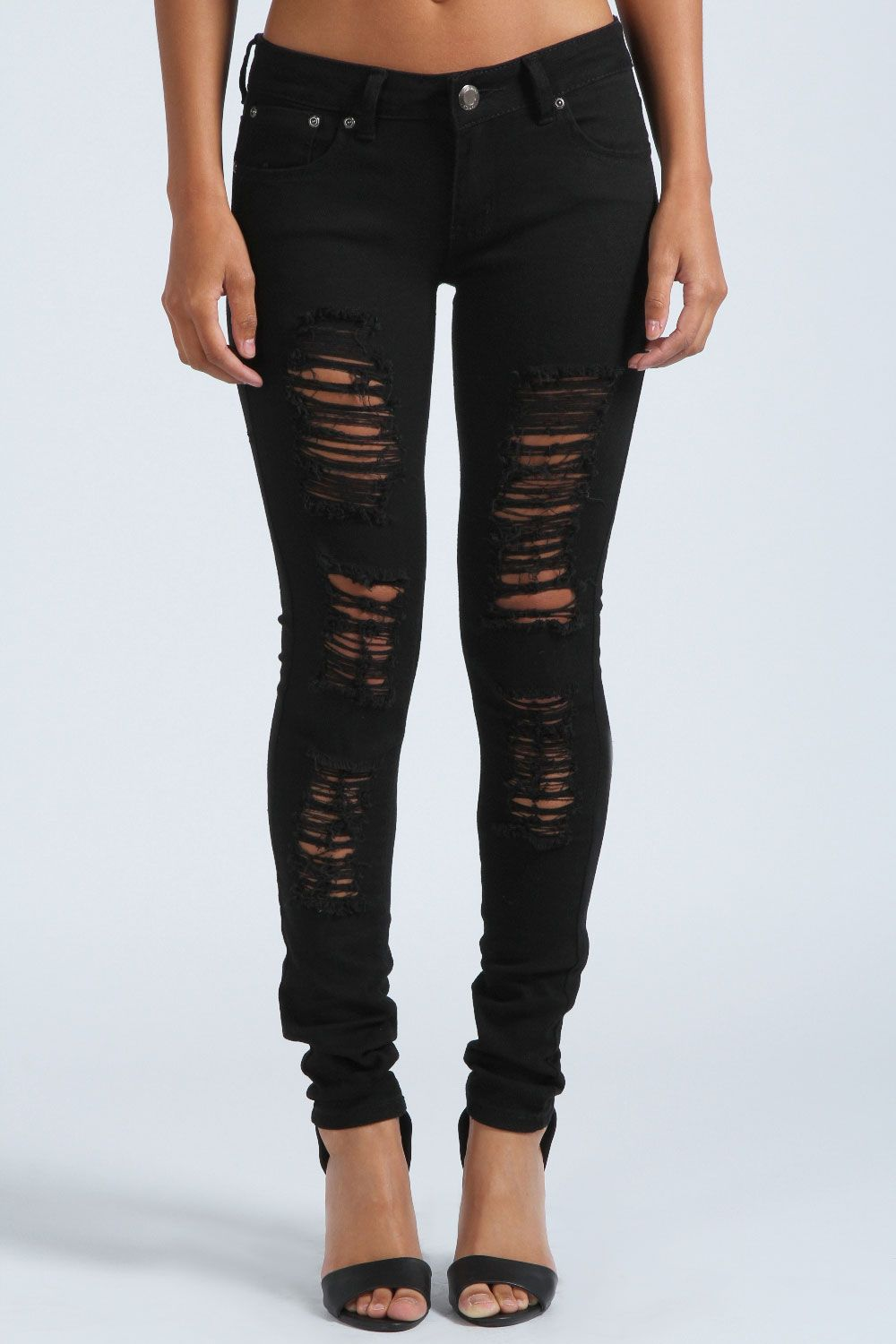 33d3802147 Chloe Ripped Skinny Jeans at boohoo.com