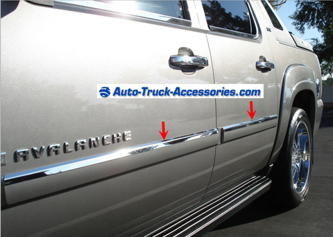 07 14 Chevy Avalanche Chevy Tahoe Gmc Yukon Mirror Finish Stainless With Images Chevy Trucks Chevy Avalanche Truck Accessories