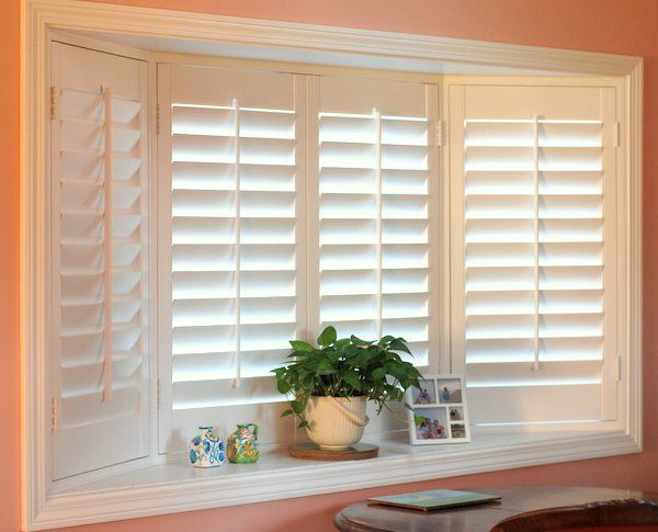 Plantation Shutters Work Well In A Bay Window