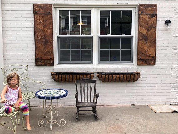 set of 2 Herringbone window shutters/wooden shutters/rustic industrial farmhouse exterior decor #exteriordecor set of 2/4 Herringbone window shutters/wooden shutters/rustic industrial farmhouse exterior decor #exteriordecor