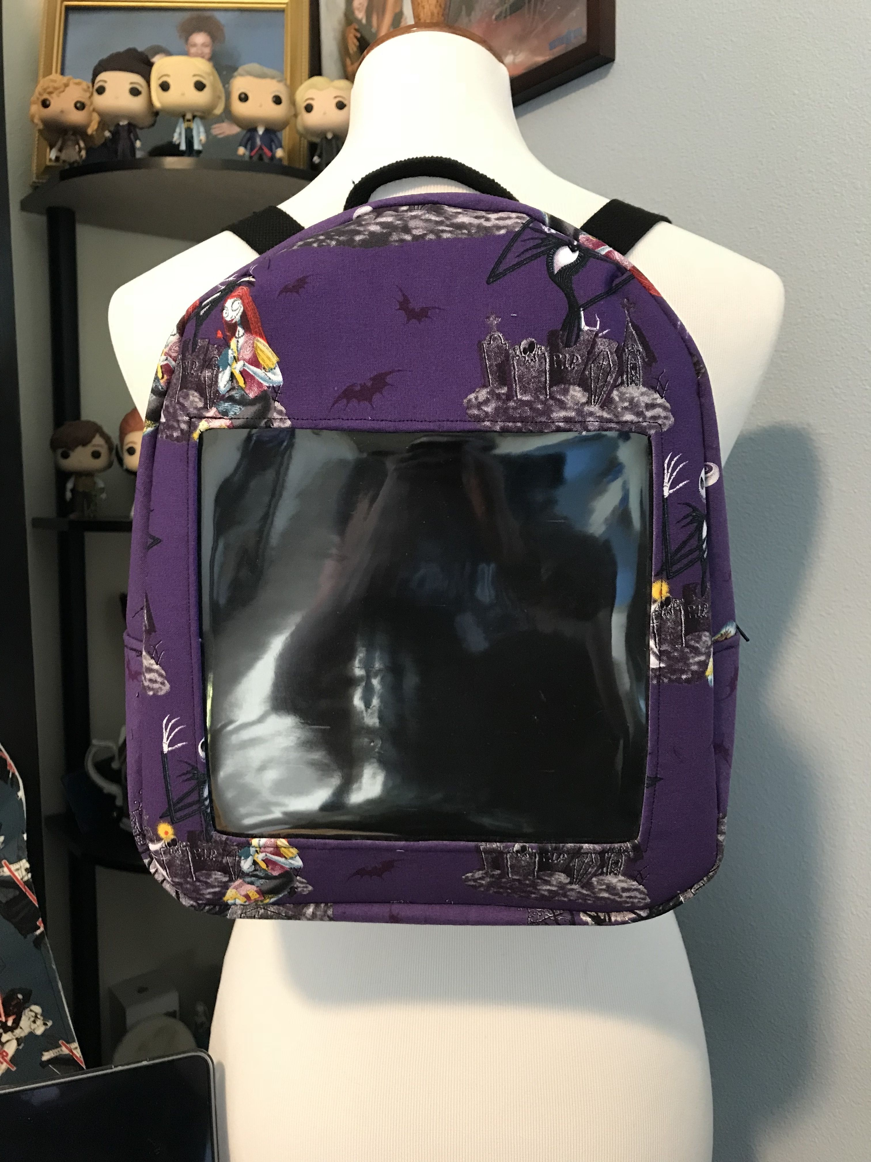 2e201f45e Custom Disney Pin Display Backpack (Nightmare Before Christmas ...