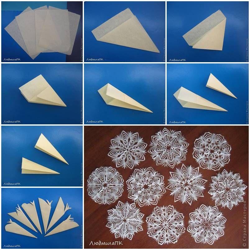 How to make Paper Snowflake Method step by step DIY