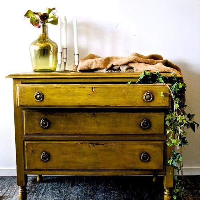 Beautifully Rustic In Layers Of Primer Red, English Yellow And Arles Chalk  Paint® |