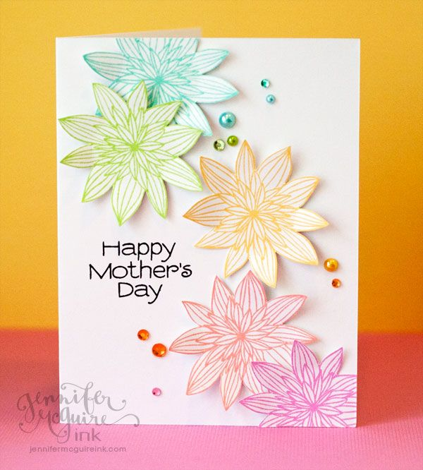 A lovely array of pastels. Card by Jennifer McGuire