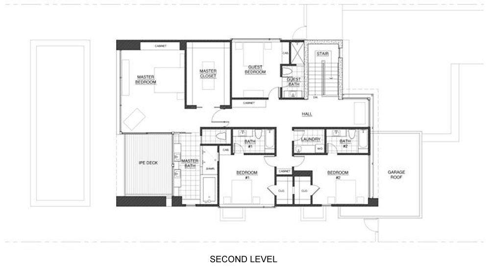 Dise o de moderna casa de dos pisos planos construye for Planos de casas de dos niveles