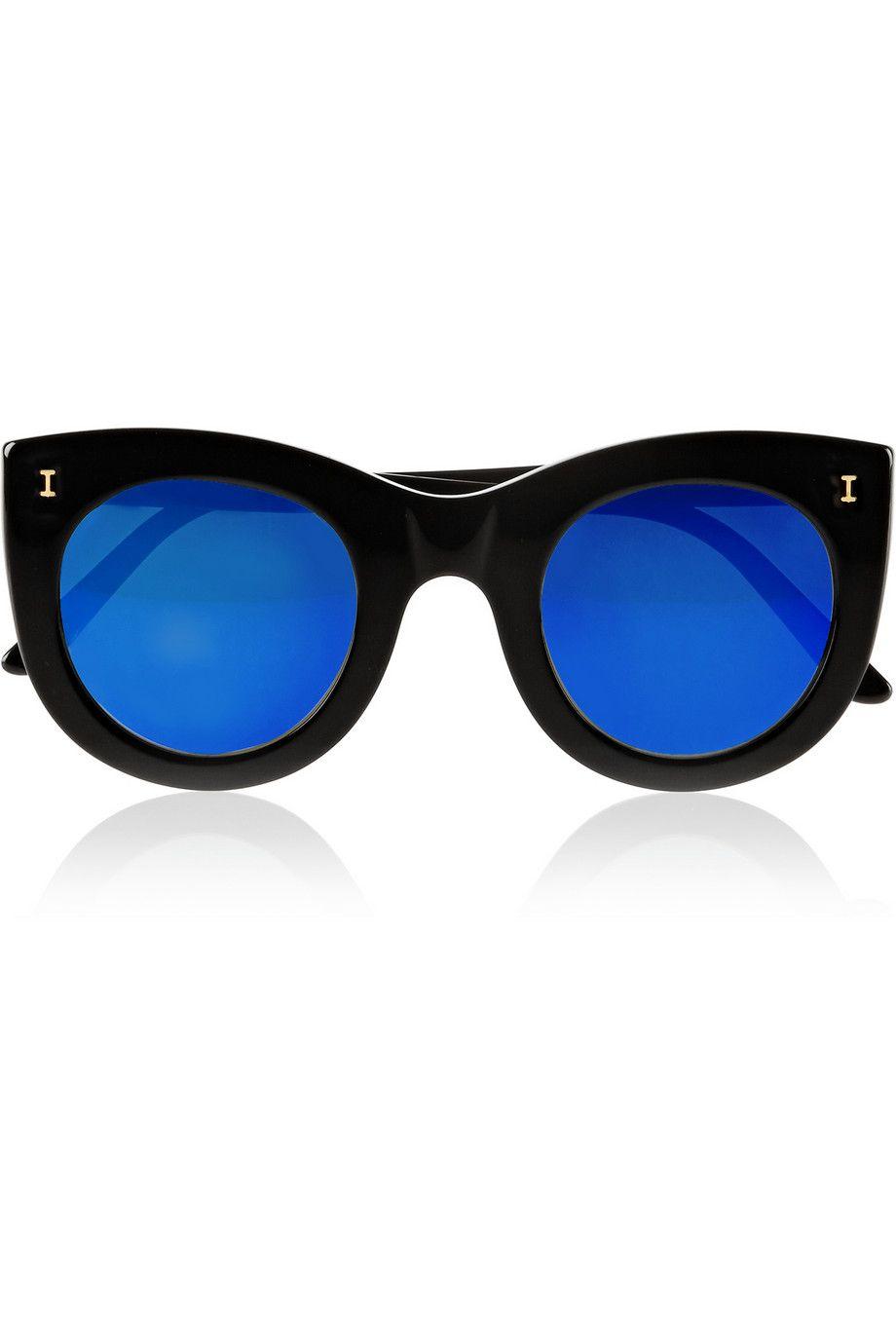 Illesteva - Boca cat-eye acetate mirrored sunglasses