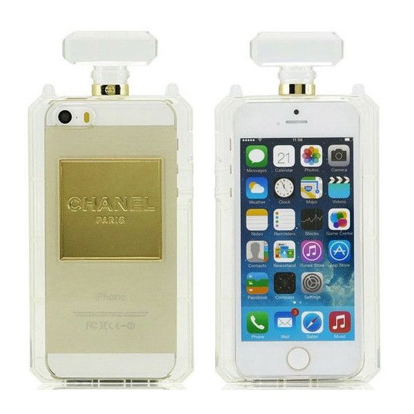 CC Perfume Bottle Clutch Chain iPhone case (MANY COLORS AVAILABLE) found on Polyvore
