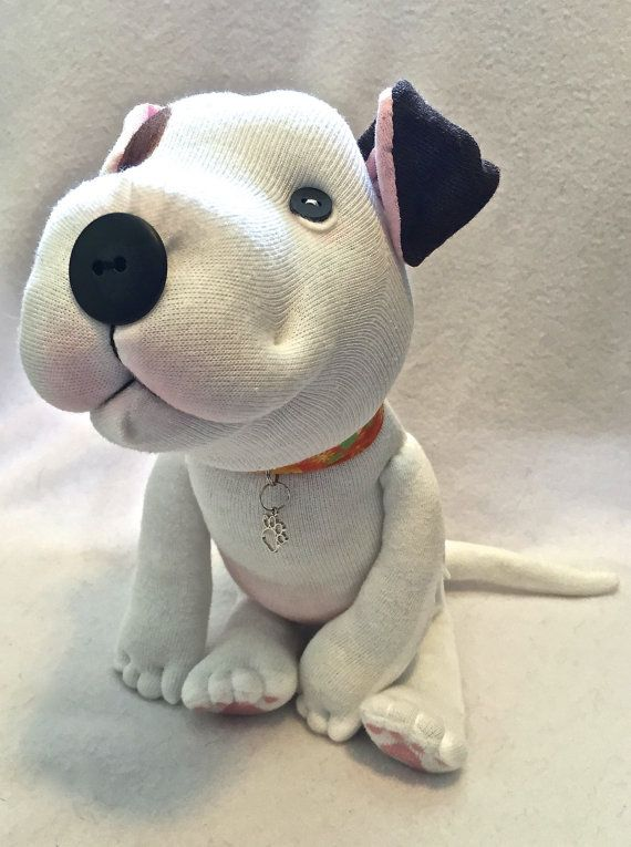 Stuffed Animal Pitbull Plush Dog Staffie Bulldog Pittie Bully