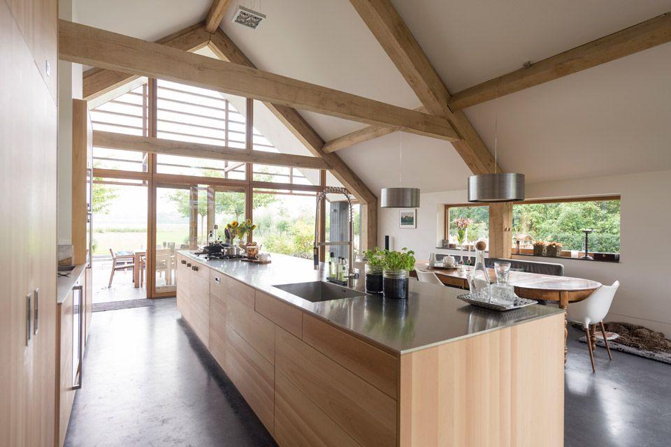 Keuken Oud Riet : Schuurwoning leusden i keuken veranda en architectuur